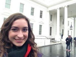 Olympian editor Kate Pellegrini visits the White House.