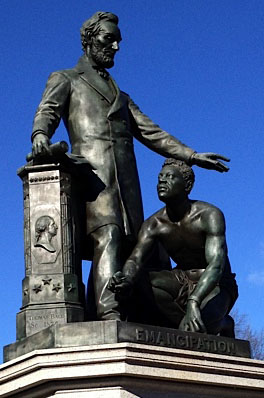 This statue in Lincoln Park generated controversy.
