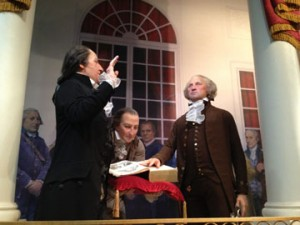 George Washington can still be seen (in wax) at Mt. Vernon.