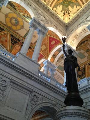 """I could have stayed at the Library of Congress all day long."""