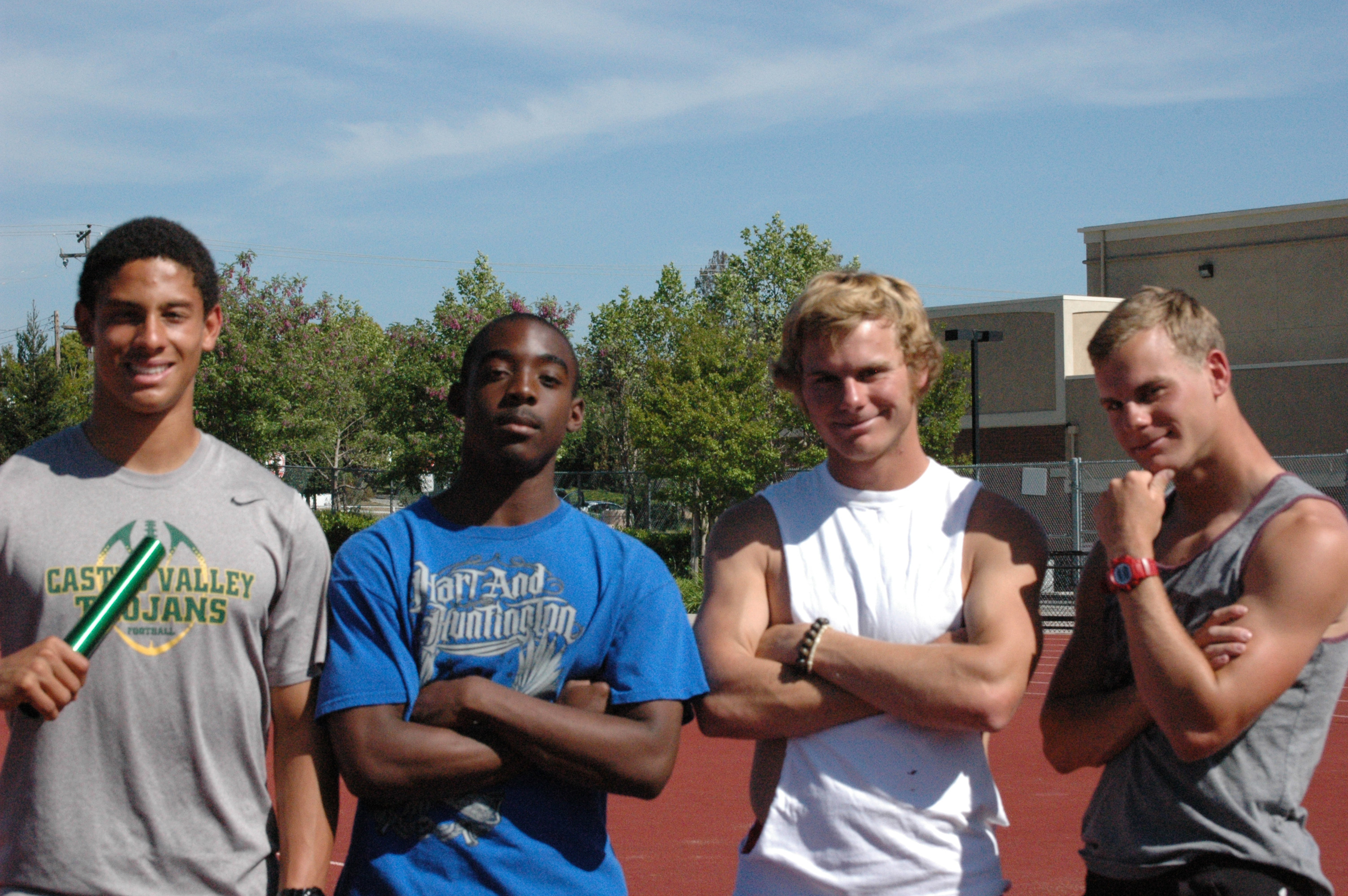 Myles Speegle, Cameron Edwards, Aaron Jones and Matt Speegle pose proudly for the camera.