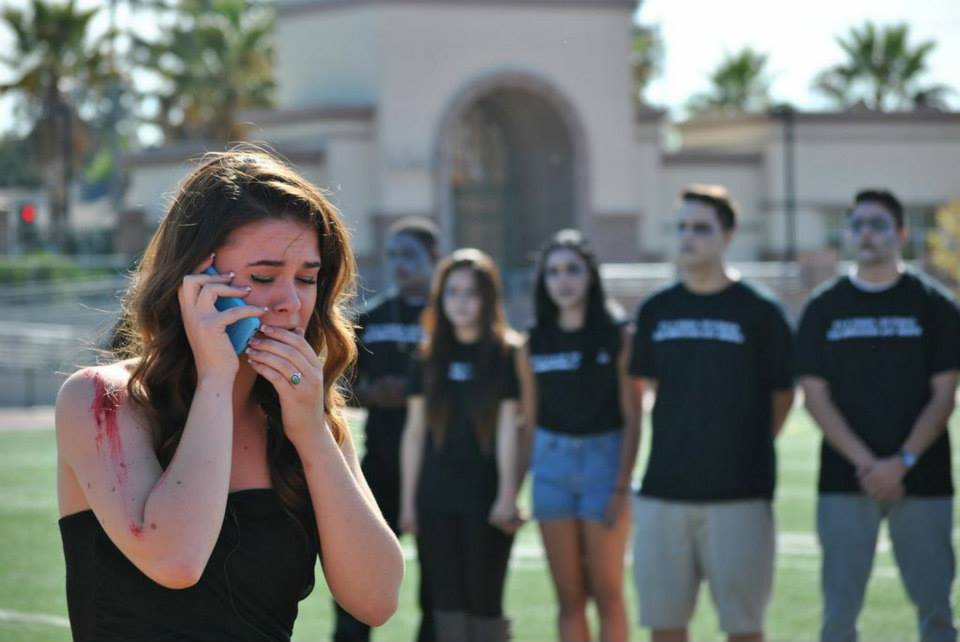 Students simulate the consequences of drunk driving in the Every 15 Minutes program. Photo by Felicianna Marquez
