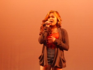 Monica Mendoza performed at the Interact benefit show.