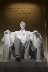 America's 16th president is honored in the Lincoln Memorial. Photo by Jes Smith.