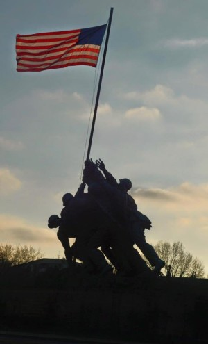 The Marine Corps War Memorial makes a dramatic sight. Photo by Jes Smith.
