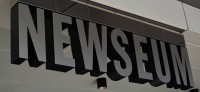 The Newseum was especially interesting to the group's journalism students. Photo by Jes Smith.