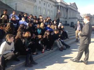 Congressman Eric Swalwell also met the students.