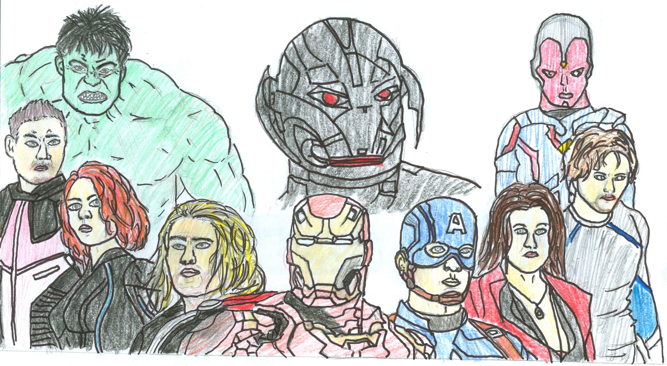 The Avengers team up against Ultron in the new movie. Graphic by Neo Diesta.