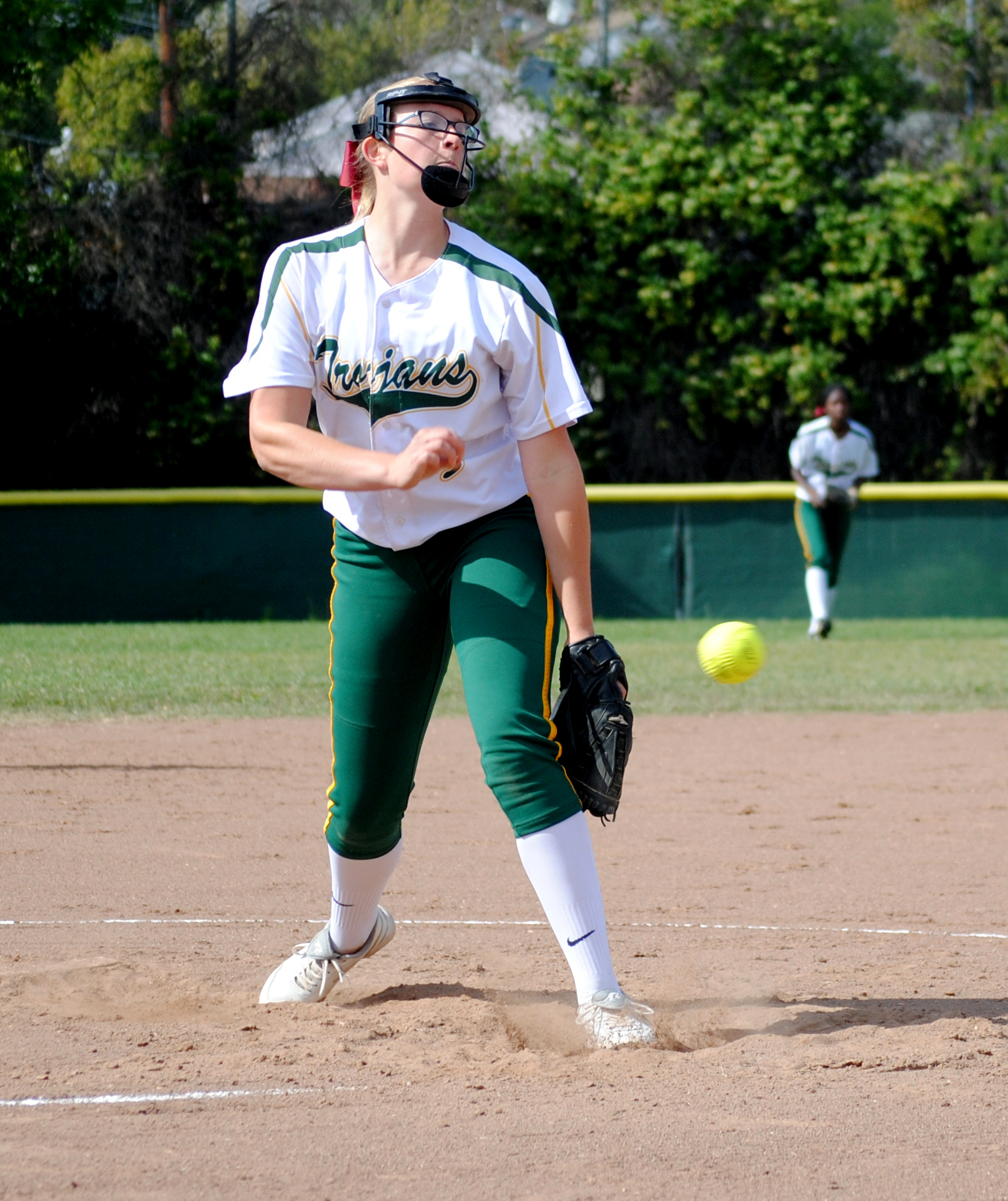 Delaney Heller releases an amazing pitch. Photo by Neo Diesta.