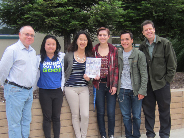 Contributors to the book include (from left) Gary Howard, Sally Liang, Anna Nguyen, Anna Talajkowski, Robbie Brandt and Matt Johanson. Photo by Stephanie Huerta.