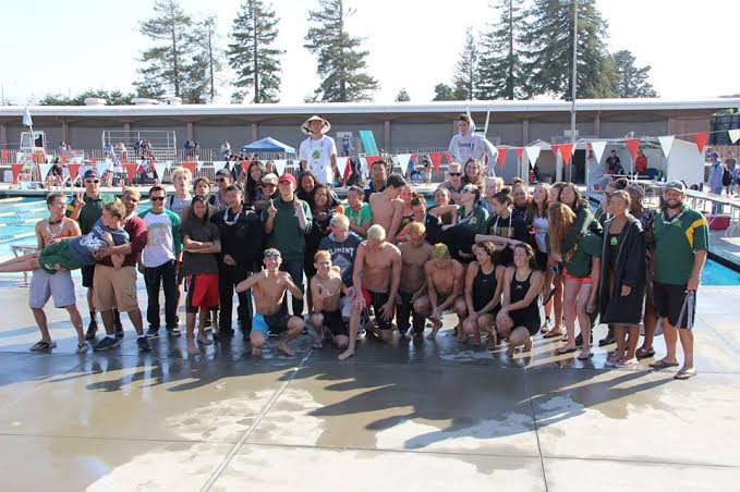 Trojans swimmers won the boys varsity league championship as the girls took second place. Photo by Jessica Mi
