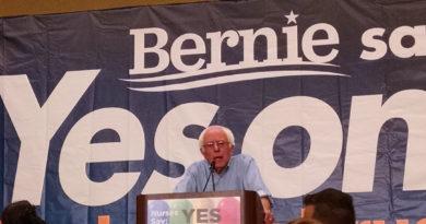 Feel the Bern! Sanders rallies for Prop. 61