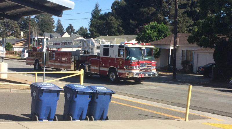School fire causes disturbance